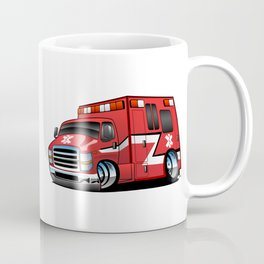Paramedic EMT Ambulance Rescue Truck Cartoon Coffee Mug