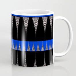 Chrysler Building Pattern in Blue and Black Coffee Mug