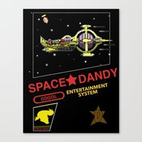 space dandy Canvas Prints featuring NES Space Dandy by IF ONLY