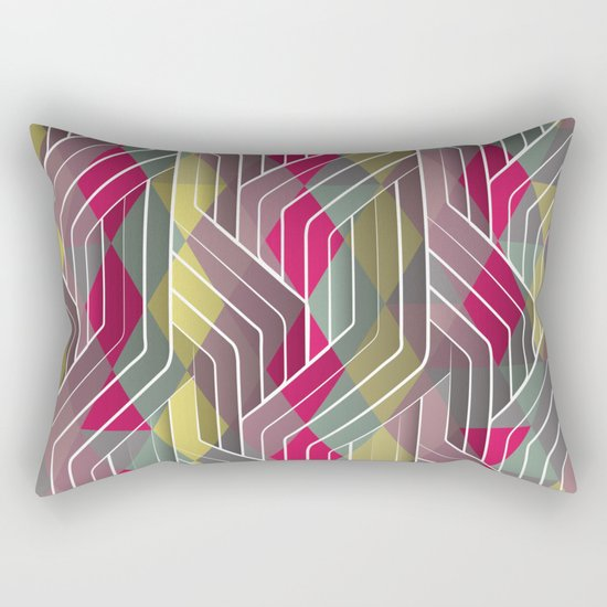 Decorative Pattern Triangles Rectangular Pillow