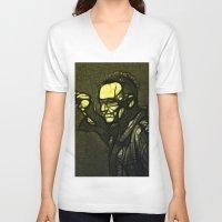 u2 V-neck T-shirts featuring U2 / Bono 1 by JR van Kampen