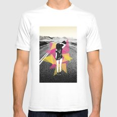 Skater Girl Mens Fitted Tee White MEDIUM