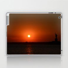 A Sunset With Lady Liberty Laptop & iPad Skin
