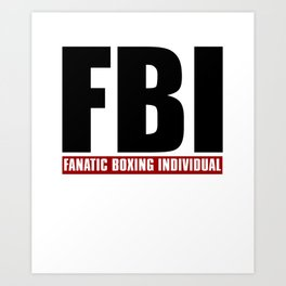 Fanatic Boxing Individual Art Print