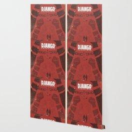Django Unchained, Quentin Tarantino, minimalist movie poster, Leonardo DiCaprio, spaghetti western Wallpaper