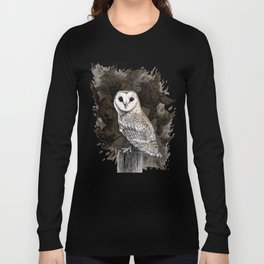 Barn Owl and Golden Starlings Long Sleeve T-shirt