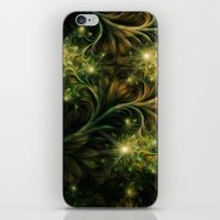 fireflies iPhone & iPod Skins featuring Fireflies by Happi Anarky