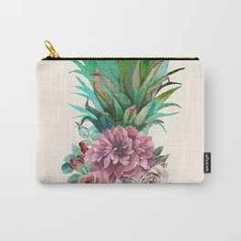 Floral Pineapple Carry-All Pouch