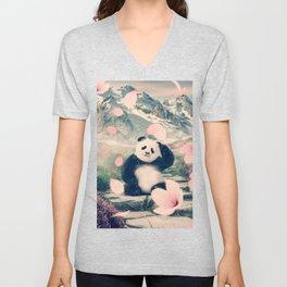 Baby Panda by GEN Z Unisex V-Neck
