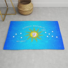The Conch Republic Flag Rug