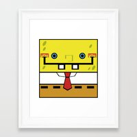 spongebob Framed Art Prints featuring SpongeBob by nu boniglio