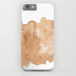 Watercolors coffee art iPhone Case