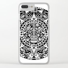 Mayan Calendar Clear iPhone Case