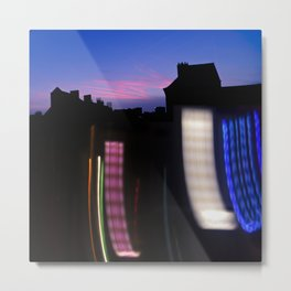 Urban City Lights Metal Print