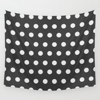 dots Wall Tapestries featuring Dots by Nobu Design