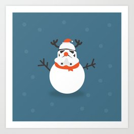 Snow Trooper Art Print