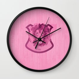 Hunting Series - The Pink Lion Head  Wall Clock