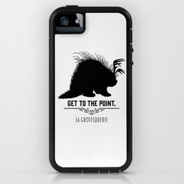 Get to the Point - Porculope Silhouette iPhone Case