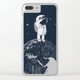 Salutation from Earth Clear iPhone Case