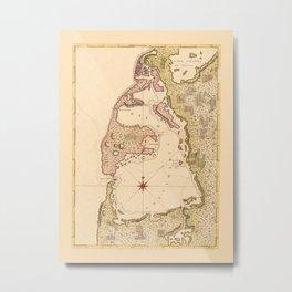 Map Of Cartagena 1771 Metal Print