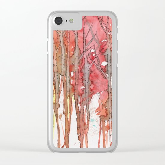 Autumn Abstract No.1 Clear iPhone Case