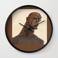 warrior Wall Clocks featuring Warrior by Tayfun Sezer