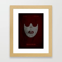 The Silence of the Lambs - Minimal Framed Art Print