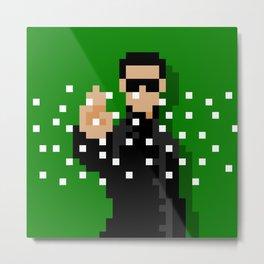 Neo of the Matrix minimal pixel art Metal Print