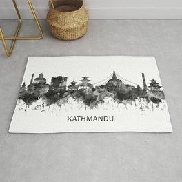 Kathmandu Nepal Skyline BW Rug