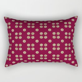 cranberry and copper dots Rectangular Pillow