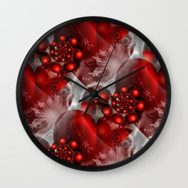 abstract heartpattern Wall Clock