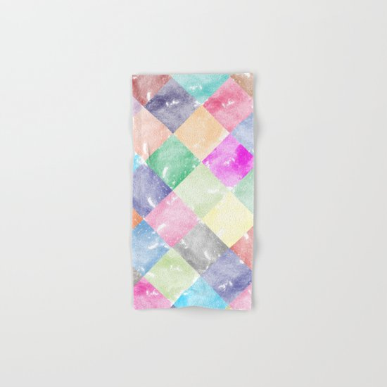 Colorful geometric patterns II Hand & Bath Towel