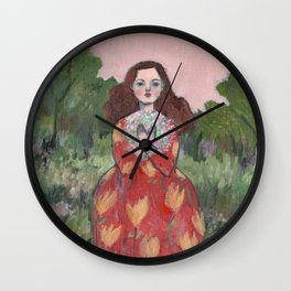 she held dreams of love and light close to her heart Wall Clock