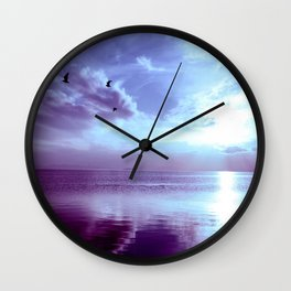 Serenity Lake Lavender Wall Clock