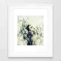 stag Framed Art Prints featuring Stag by Anna Dittmann