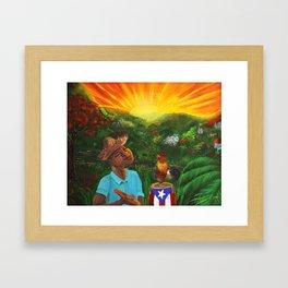 Canta Gallo Framed Art Print