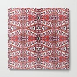 Mosaic Stop Pattern Metal Print