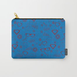 Supergirl/Kara's pattern - red Carry-All Pouch