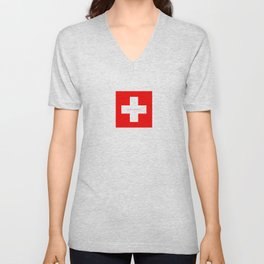Swiss Cross - Swiss Flag Unisex V-Neck