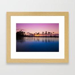 Sunset on Hawaiian Beach Framed Art Print