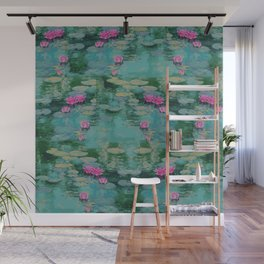 Lotus Floating On Lily Pads Wall Mural