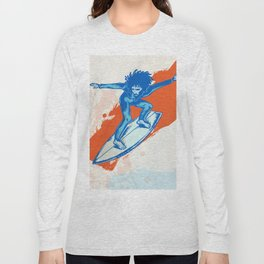 surfer on wave Long Sleeve T-shirt