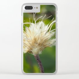 White Cloud Flower Clear iPhone Case