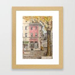 Autumn in Freiburg Framed Art Print