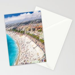 The French Riviera Landscape Painting by Jeanpaul Ferro Stationery Cards