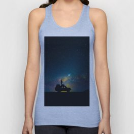 Australian Outback At Night Star Night Sky Milky Way Galaxy Colorful Unisex Tank Top