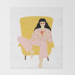 Pyjama Sunday Throw Blanket