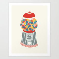 Gum Ball Machine Art Print