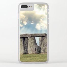 Stonehenge V Clear iPhone Case