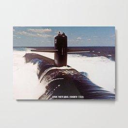 USS NEVADA (SSBN-733) Metal Print